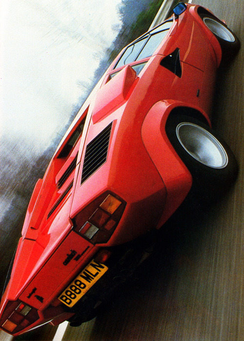 flight-time:  Matt Bonner  Roaring up The iconic Countach.