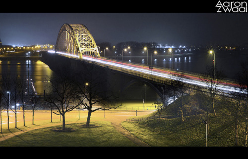 aaronzwaal:  Waalbrug, Nijmegen on Flickr. Decided to do some long exposures again, stoked on the outcome!