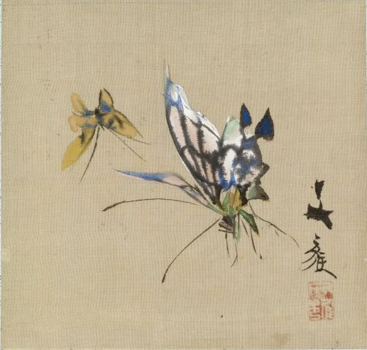 Leaf from Album Depicting Birds, Flowers, Landscapes, and Flower Pots Yoshizawa Setsuan (Japanese, 1809-1889) (Artist) 1876 (Edo-Meiji)