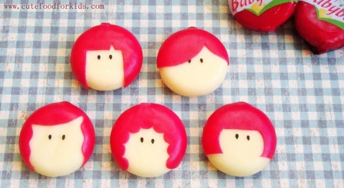 G is for Girly Babybels Cheese From cutefoodforkids.com