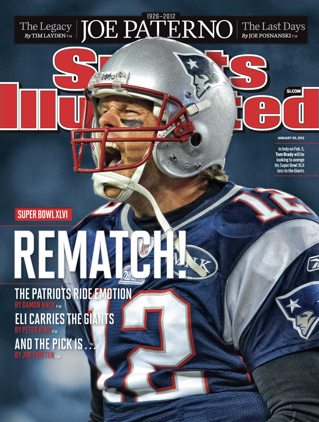 This week's Sports Illustrated features Tom Brady, who is making his 19th appearance on the SI cover. (Simon Bruty/SI) CLICK HERE TO PURCHASE A COPY OF THIS WEEK'S COVER