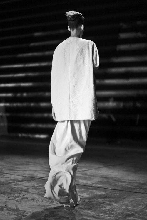 Model in Rick Owens, photographed by Clément Louis.