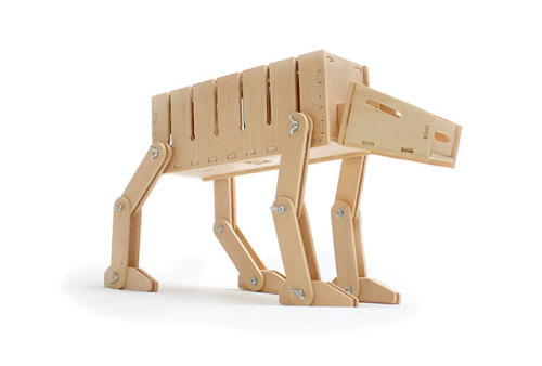 laughingsquid:  Construct-Your-Own Star Wars AT-AT Cable Organizer & Card Case Kit