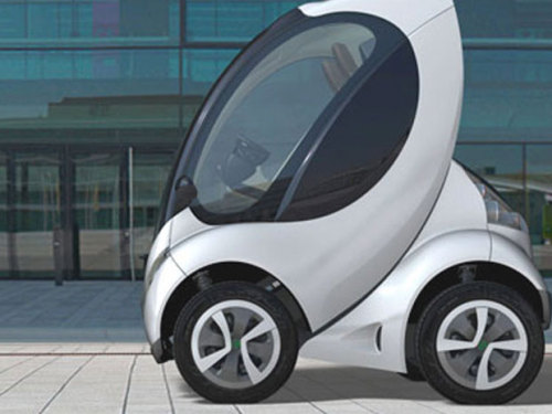 "nationalpost:  First fold-up car, Hiriko, unveiled to beat urban stress in EUA tiny revolutionary fold-up car designed in Spain's Basque country as the answer to urban stress and pollution was unveiled Tuesday before hitting European cities in 2013.The ""Hiriko,"" the Basque word for ""urban,"" is an electric two-seater with no doors whose motor is located in the wheels and which folds up like a child's collapsible stroller for easy parking. (Photo: Hiriko)  Wow car - wow idea."