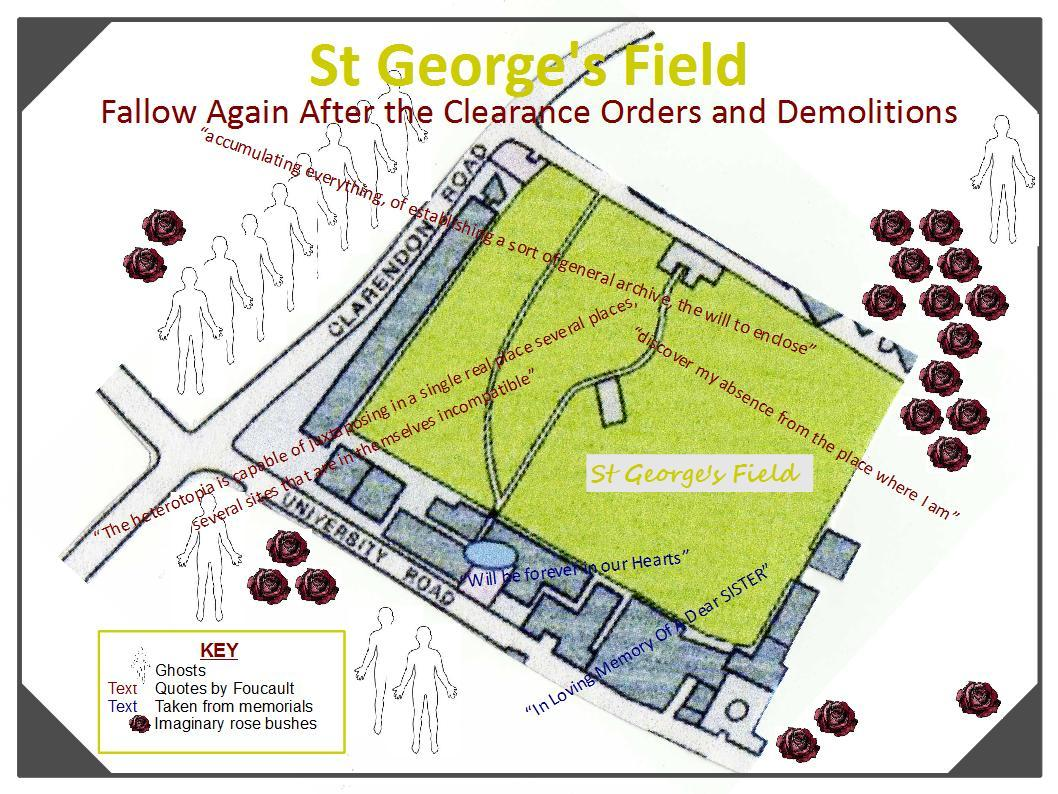 Schizocartography of St George's Field, Leeds University - Tina Richardson (2012).