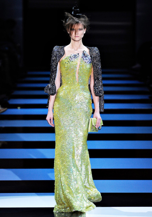 vogue:  Armani Privé Spring 2012 Couture Photo: Yannis Vlamos/GoRunway.comVisit Vogue.com for the full collection and review.