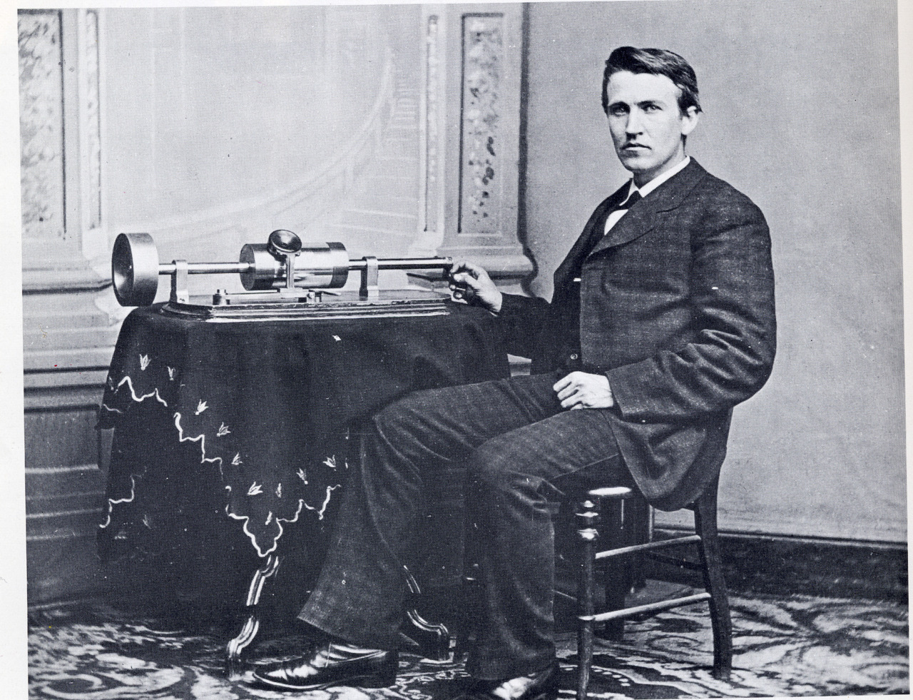 thelittlesquares:  Thomas Edison photographed at The White House by Mathew B. Brady