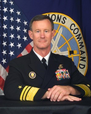 "The Quiet Admiral  McRaven didn't actually kill bin Laden. The shot was fired by one of twenty-three SEALs  who flew into Pakistan on the night of May 1st, stormed bin Laden's  compound, and took his body away. Their identities remain secret. And  McRaven might have preferred the same. His name, however, became part of  the lore of the raid after Panetta, who was the director of the C.I.A.,  told PBS's Jim Lehrer that McRaven was the ""real commander"" of the  Abbottabad mission. McRaven had long been revered inside the  special-operations community, but he was hardly known outside of  military circles. In fact, immediately after finishing with Panetta,  Lehrer felt obliged to inform viewers that McRaven was in charge of  Joint Special Operations Command, or JSOC (McRaven has since received his fourth star and been promoted to commander of Special Operations Command, of which JSOC is one component.)  - Nicholas Schmidle on Admiral Bill McRaven. Last August, Schmidle wrote in detail about McRaven's role overseeing the bin Laden mission."