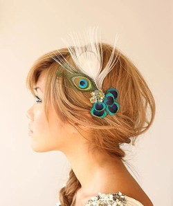 peacock hair accessory via pinterest