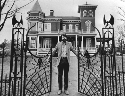 anneyhall:  Stephen King at home, Bangor, Maine.