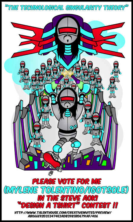 I entered the Steve Aoki Design A T-Shirt Contest on Talent House.. i would greatly appreciate the Votes!! http:// www.talenthouse.com/creativeinvites/preview/ab066e92d353474e2adb3985bd6791af/406  Thank You All SOOOO much!!!