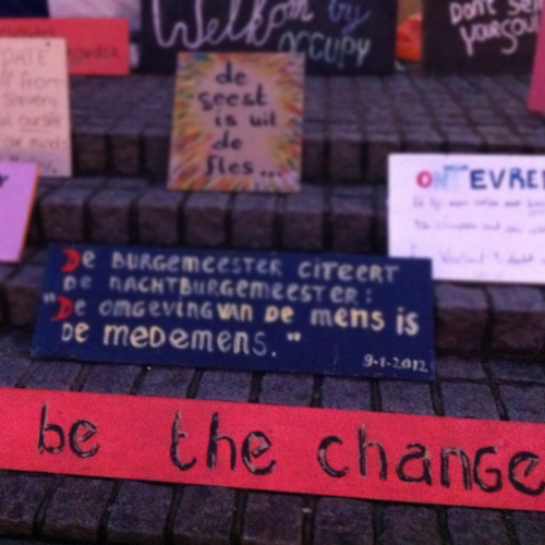 Be the change #occupy