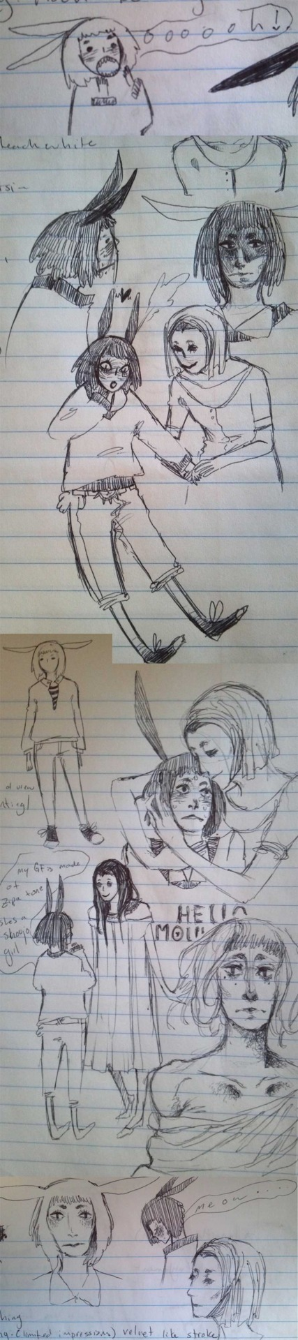 things i drew during my History of Print Paper Book LOVE A.a
