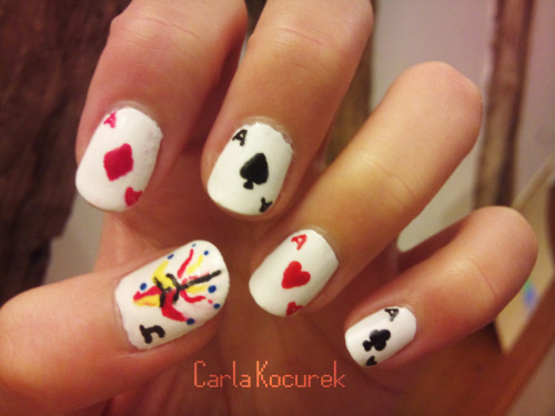 playing card nails