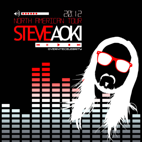 Design I made for a Steve Aoki t-shirt contest for his 2012 DeadMeat North American tour from Dim Mak Productions
