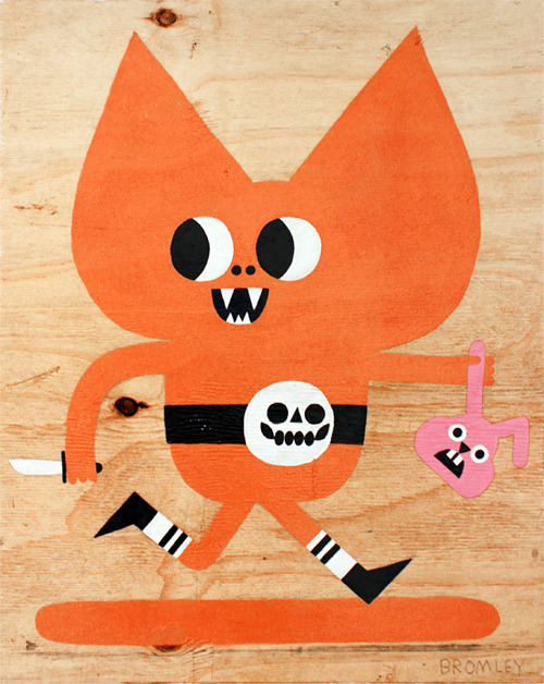 Orange Bat by Matthew BromleyThis is a skatboard! fab