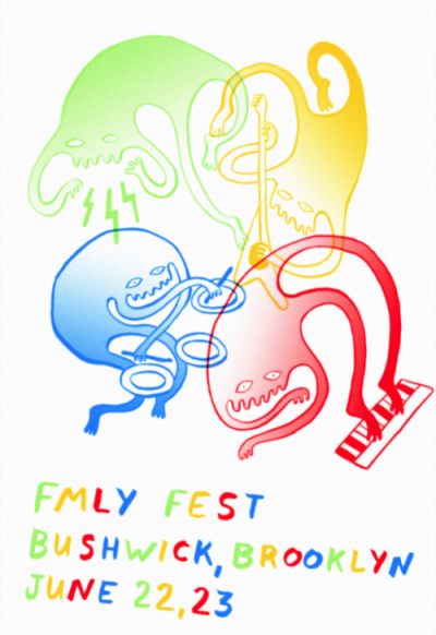 "fmlyfest:  dear summer of 2k12, on june 22 & 23 we invite you to participate in our open gathering: a two day celebration of fmly and frnds representing a global community of makers, prosumers, visual/auditory/spatial artists, activists/hacktivists, theorists, writers, cyclists, environmentally conscious foodies, and like minded social do-gooders. over the last three years our festival has carried on a winter fling with california, but as saucy as the relationship is going you can't imagine how excited we are to spend some quality time with you heartthrobs on the east coast. fmly fest is a d.i.t. (do it together) music and arts festival, as in we accomplish nothing if we do not take strides for positive transformation together. this is an open call for all zinesters, screen printers, wall doodlers, public space connoisseurs, pillow fort enthusiasts, bedroom recorders, scenic appreciators, urban dissenters, airwave hackers, subway singers, angsty latte flippers, kids who dance their heart out at every show, rap battles, round robins, aerialists, and new friends to come together and create this gorgeous reflection of our community we've all been feeling. to get involved, contact :: fmlyfest@thefmly.com to keep updated, bookmark to visualize, watch to rsvp and invite your friends, check out first public meeting is on wednesday, february 1. learn more & rsvp here. ♥,fmly ps. ahhhh, can't wait!!!! ""action is the product of the qualities inherent in nature. it is only the ignorant man or woman who, misled by personal egotism, says: 'i am the doer.'"""