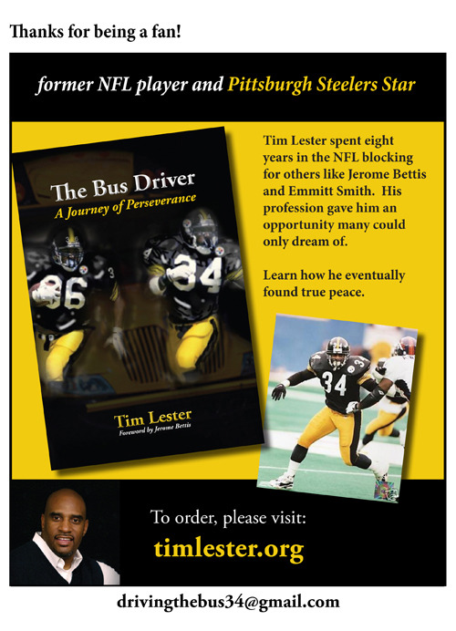 Facebook fan page design for former NFL player Tim Lester's facebook page.