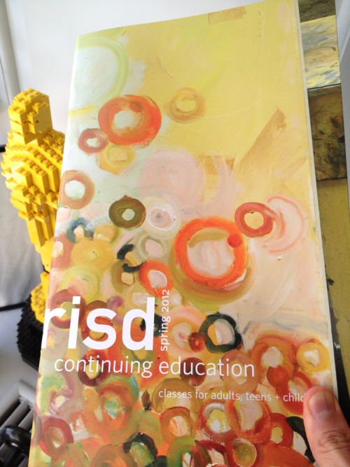 ourrisd:  Dean Brian Smith of RISD Continuing Education just gave me our spring catalogue of courses for adults, teens, and children. There's quite a few offerings there that span a wide array of creative pursuits. -JM