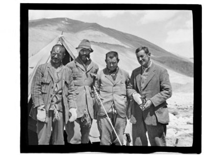 "Faces at the Frontier Team members Henry Morshead, Edward Norton, Howard Somervell, and George Mallory. Photo courtesy of Susan Robertson and Ed Webster ""From 1921-24, British mountaineer George Mallory lead multiple attempts to scale the world's highest mountain. Whether he ever made it to the top remains a mystery, as he and his climbing partner Andrew ""Sandy"" Irvine disappeared near the summit in 1924. His body was found 75 years later. That much of the story most people know…."" [/via National Geographic]"
