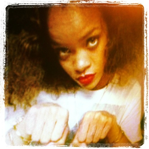 Caption contest: What's Riri doing? (Taken with instagram)