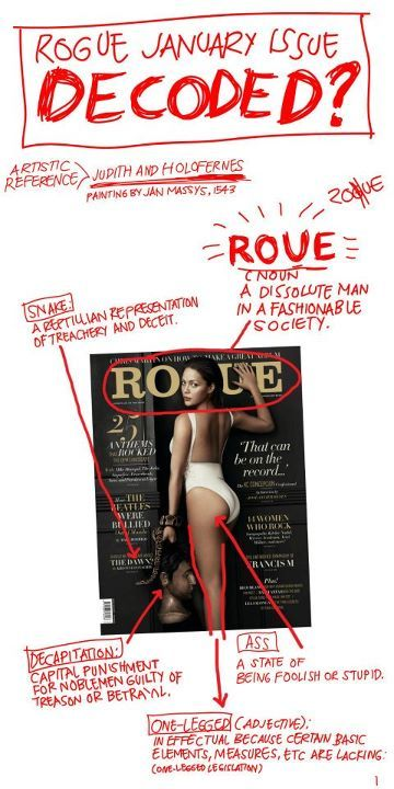 In depth analysis on Rogue Magazine's January Issue.