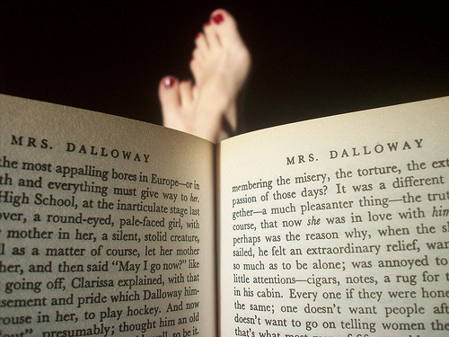 bookmania:  Mrs. Dalloway by Virginia Woolf (photo by Micaela Di Corrado)