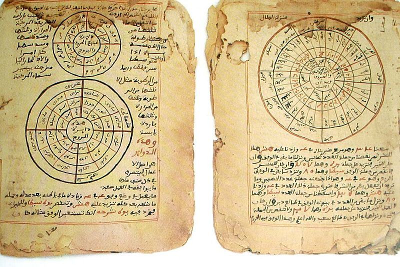 Manuscripts on Astronomy and Mathematics, Timbuktu, Mali (Western Africa), XVth century approx. Probably from the University of Sankore.