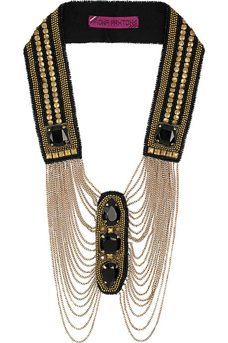 Fiona Paxton Dolly bead-embellished necklace