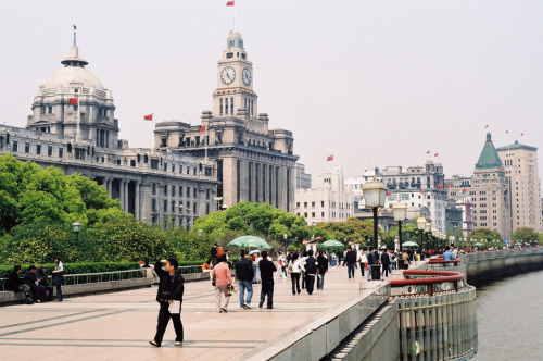 The Bund - one of the most famous tourist destinations in Shanghai.  A mix of Western and Eastern architecture, shopping, etc.