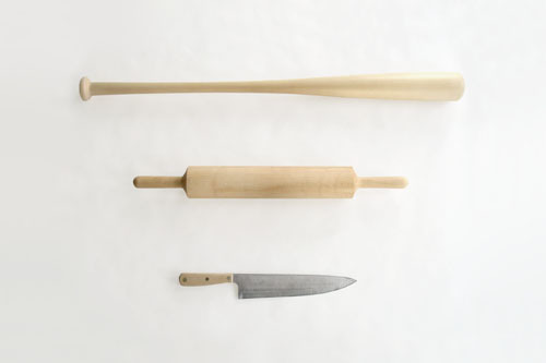 Dylan Mckinnon | Cook's Knife, Rolling Pin & Baseball Bat | 2012