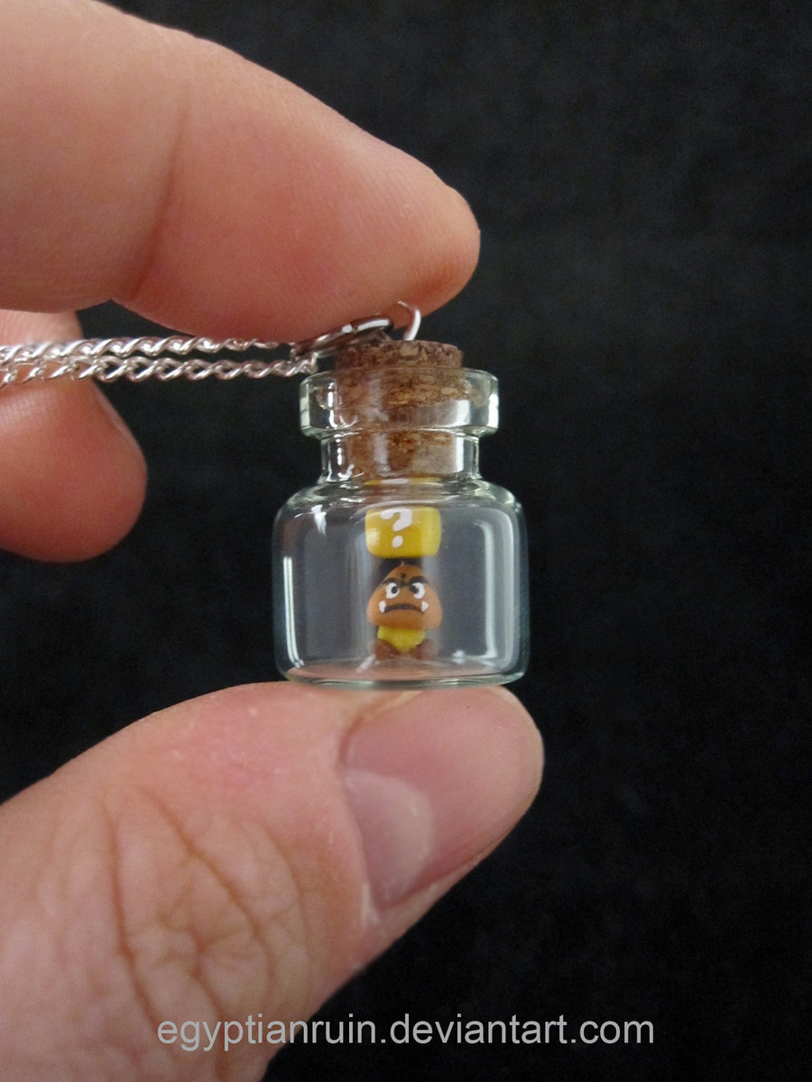 Goomba Bottle Pendant by *egyptianruin