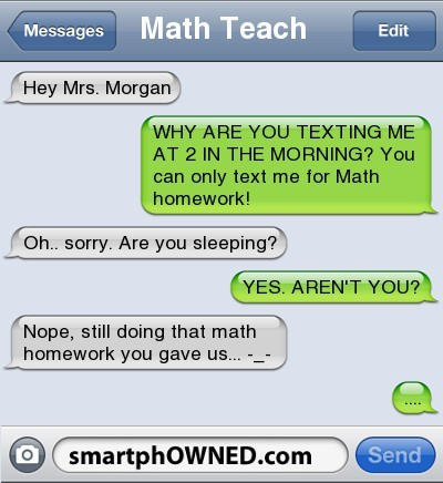 smartphowned:  Follow for more autocorrects and awkward parent texts