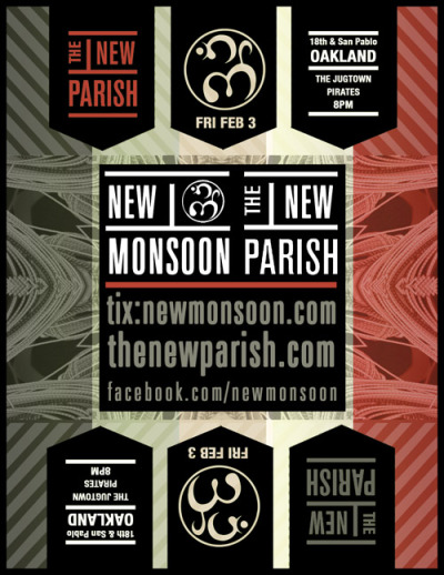 New Monsoon at The New Parish 2/3/12 poster