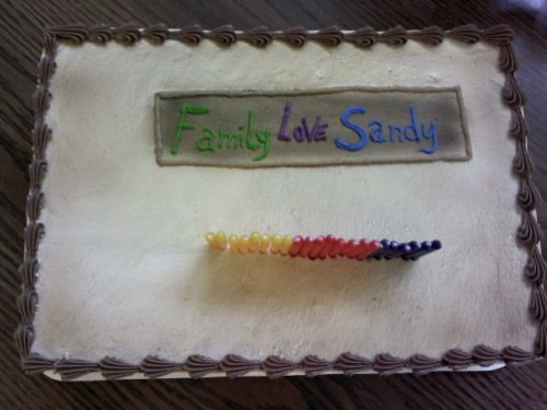 emily-darling:  thebluthcompany:  Today's my birthday and this is the cake my family got me.  Look at banner, Michael!