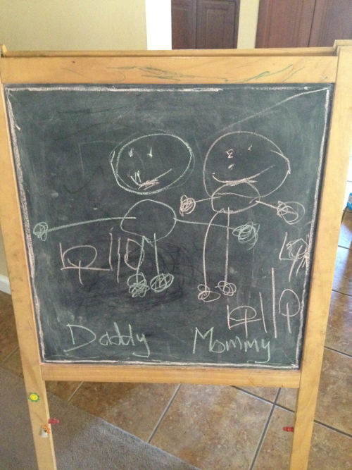 "Signed original by the Artist who is home ""sick"" (4 years old)"