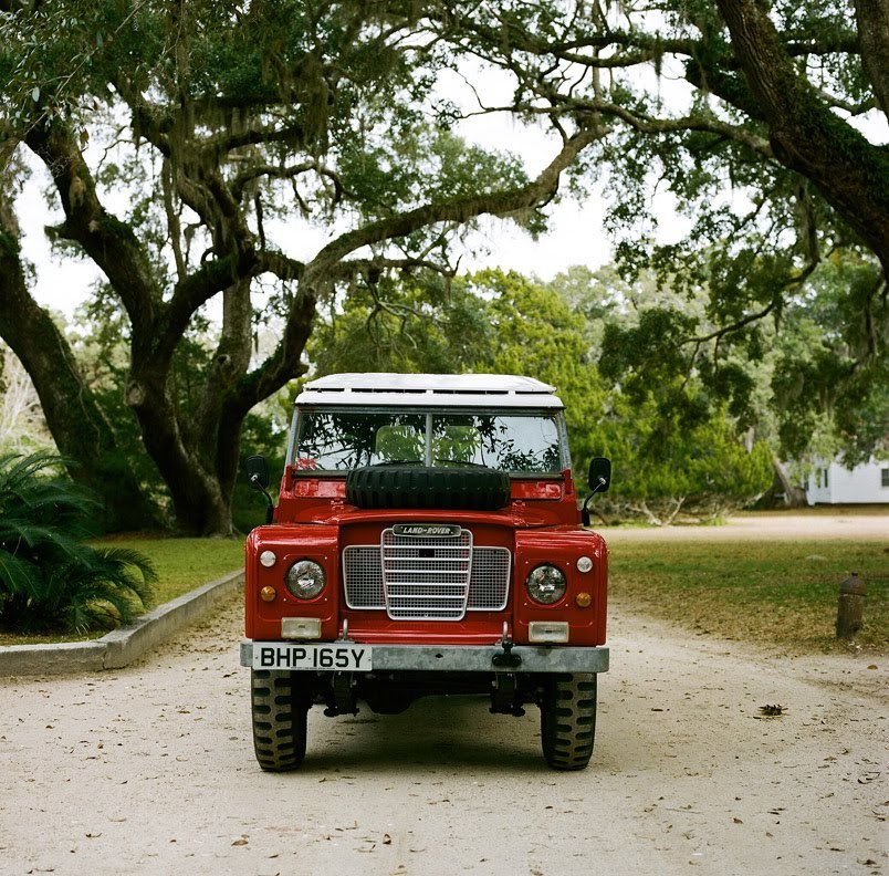 Red Land Rover Defender 90 (I believe)  georgianadesign:  Def.