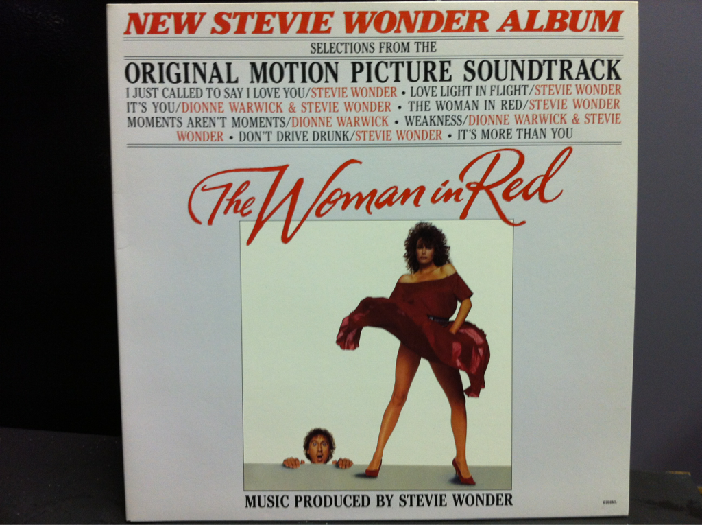 Cover of The Woman in Red soundtrack vinyl release from Stevie Wonder