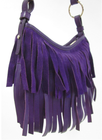 Ebay find of the day: purple fringe YSL bag.