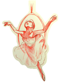 sketch of a scene from this amazing video one day I want to see a ballet or opera in person! :3 Really wanted to go to Alice in Wonderland ballet this year but tickets sold out by the time I found out…Q~Q also, can someone tell me the name of the song in the video? It sounds so familiar, but I can't remember the name…