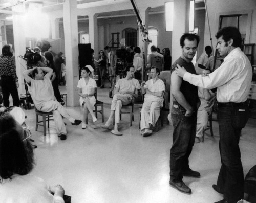 strangewood:  On the set of One Flew Over the Cuckoo's Nest