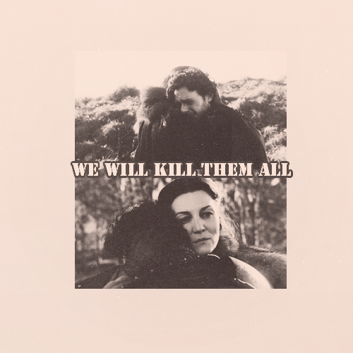everytear-waterfall:  Catelyn and Robb.