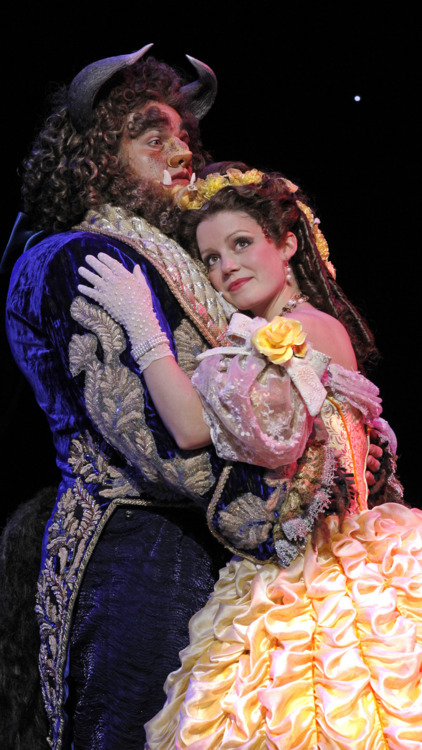 Dane Agostinis as Beast and Emily Behny as Belle. Photo by Joan Marcus