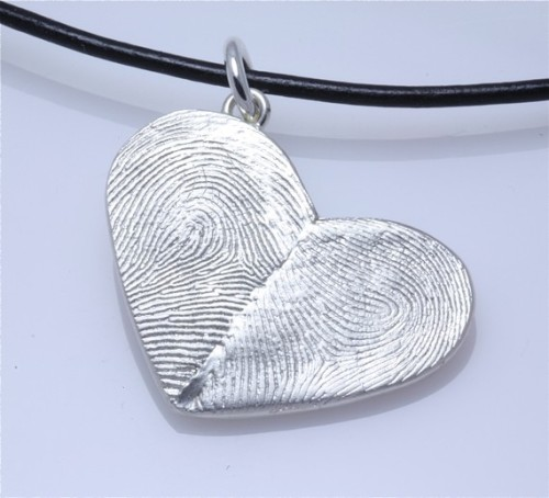 one half is your fingerprint, the other half is his. love. found here.