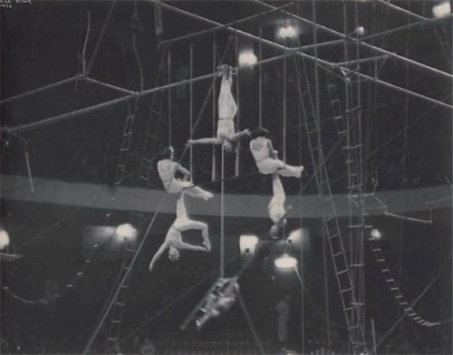 Ilse Bing * , Trapeze artists, Ringling Brothers & Barnum and Bailey Circus, Madison Square Garden, New York, 1936  sold for 4800 €