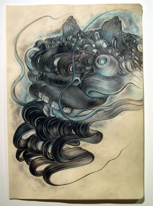 Lee Misenheimer, from the Devil Dowsing series, 2010, pencil and gouache