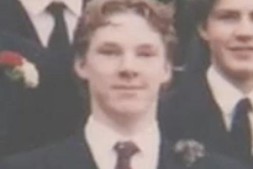 A very young Benedict Cumberbatch while he was at Harrow, the £29,000 a year public(private) school. I'd still do him! ;-)