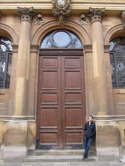 Just hanging out in front of some massive doors at Christ Church.