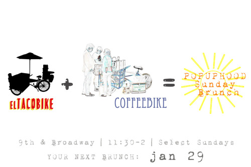 crown-nine:  So stoked to have some yummy brunch this Sunday!  This Sunday Jan.29th! Come on out to the popuphood on 9th and Broadway in Old Oakland for some brunchy-time goodness!xo-PiperAndJohn