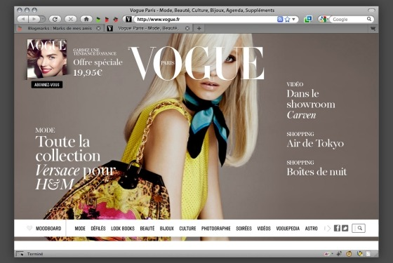 The new and improved French Vogue is going live on February 6! Bookmark the Web link: http://www.vogue.fr